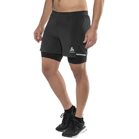 Odlo Zeroweight Ceramicool 2-In-1 Shorts Men black-black